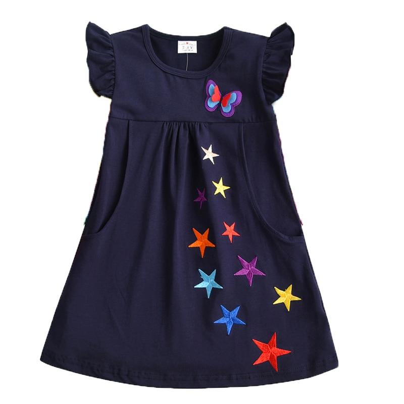 VIKITA 4-8Y Dress for Girls Baby Girl Children Tutu Dresses Princess Party Dresses Casual Vestidos Kids Girls Clothes SH5868 4