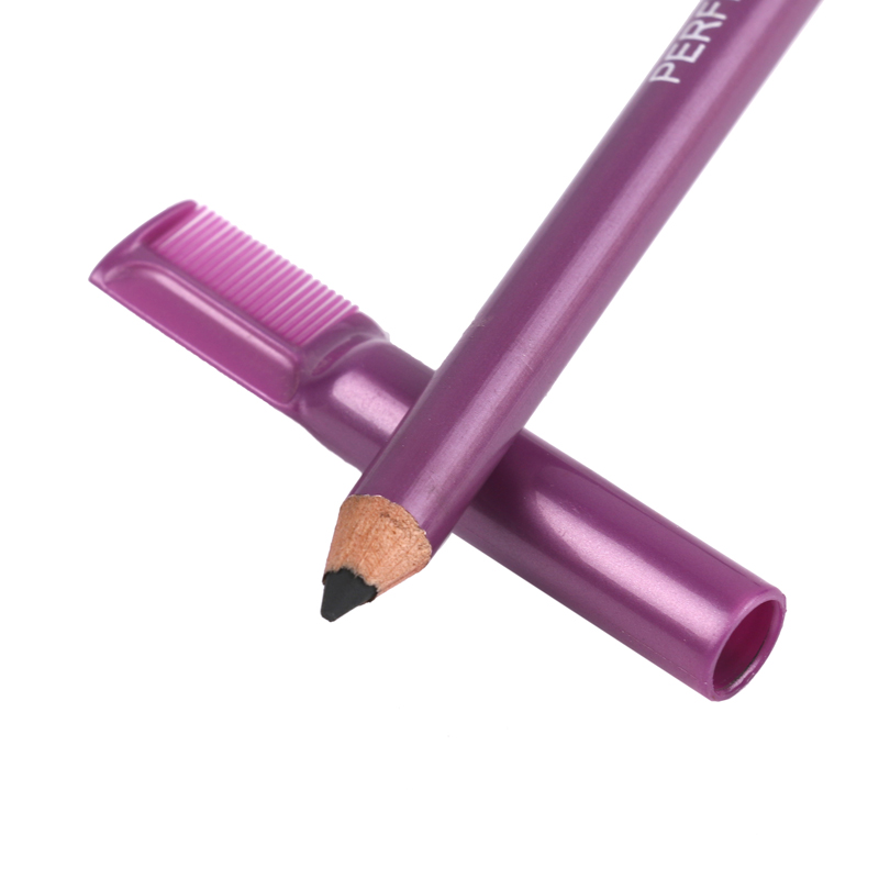 1pcs Double-headed With Eyebrow Comb Eyebrow Pencil 5Color Not Blooming Lasting Eyebrow Brush Waterproof Waterproof Brow Cream
