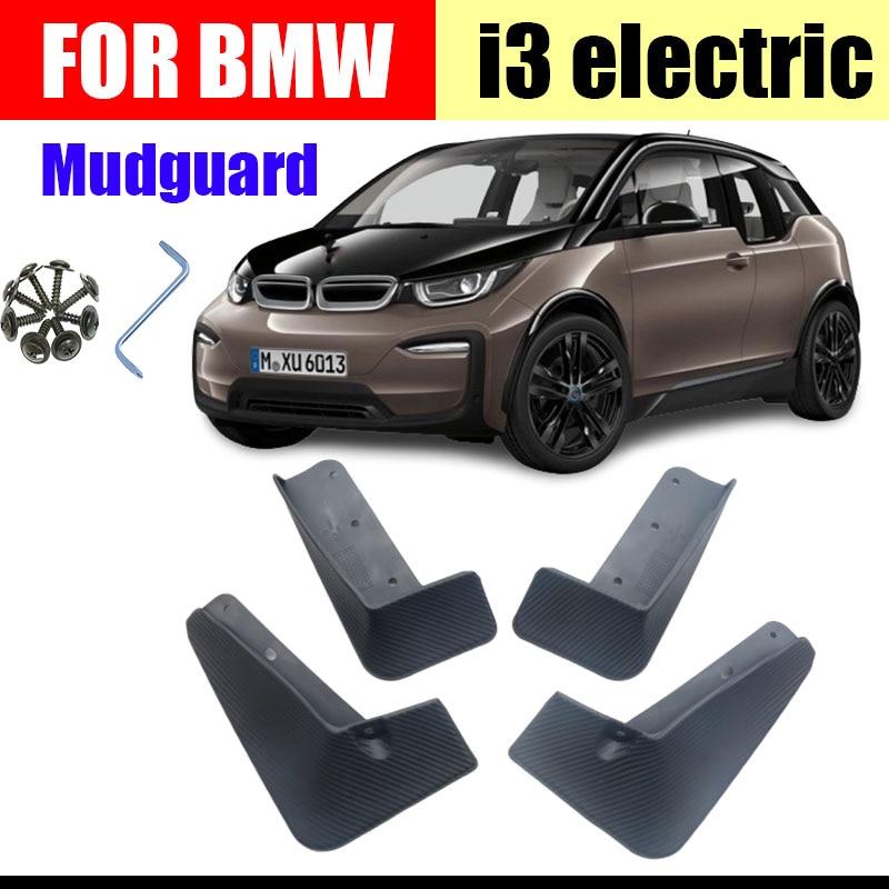Mud Flaps Splash Guards Mudguards Protective Fender 4pcs ,for BMW I3 I3 Electric Models Premium Front /& Rear Set Moulded Full Protection Set Splash Mud Guards Black