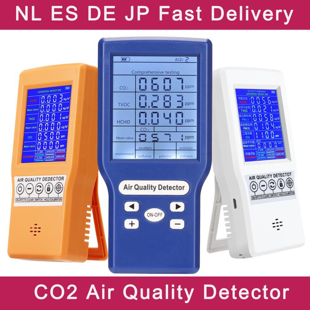 Цифровой датчик CO2 PPM, мини-детектор углекислого газа, анализатор качества воздуха, USB детектор TVOC HCHO PM2.5 метр
