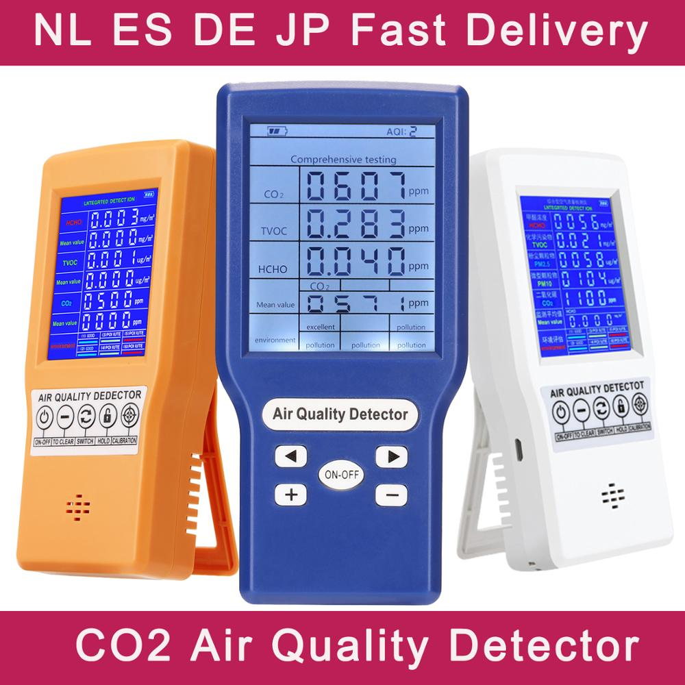 Digital CO2 Sensor PPM Meters Mini Carbon Dioxide Detector Gas Analyzer Air Quality Monitor USB Detector TVOC HCHO PM2.5 Meter