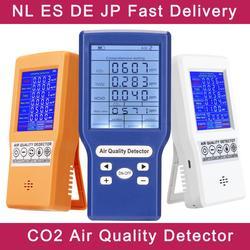 Digital sensor de co2 ppm medidores mini detector de dióxido carbono analisador de gás monitor de qualidade do ar detector usb tvoc hcho pm2.5 medidor