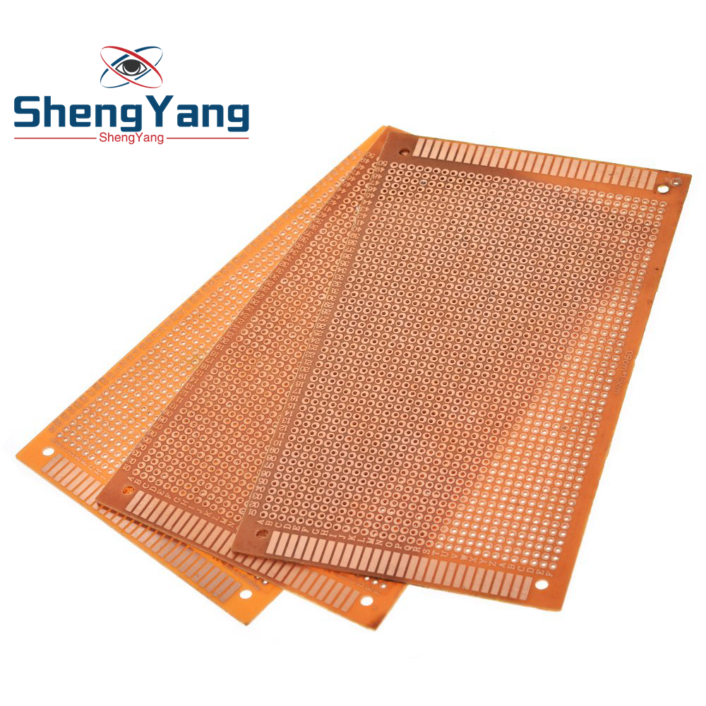 9x15 9*15cm simple face Prototype PCB carte universelle expérimentale bakélite plaque de cuivre circuit imprimé jaune |