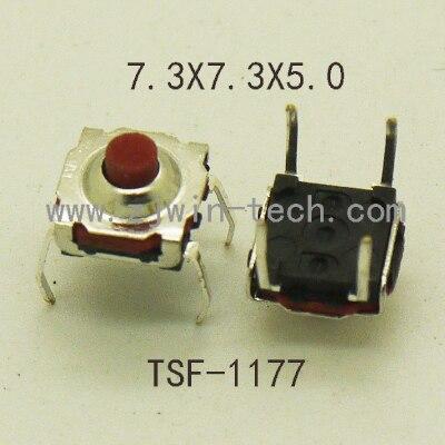 30 pçs 7.3x7.3x5mm 4pin dip à prova dwaterproof água botão tato interruptor botão de silicone botão macio de alta qualidade