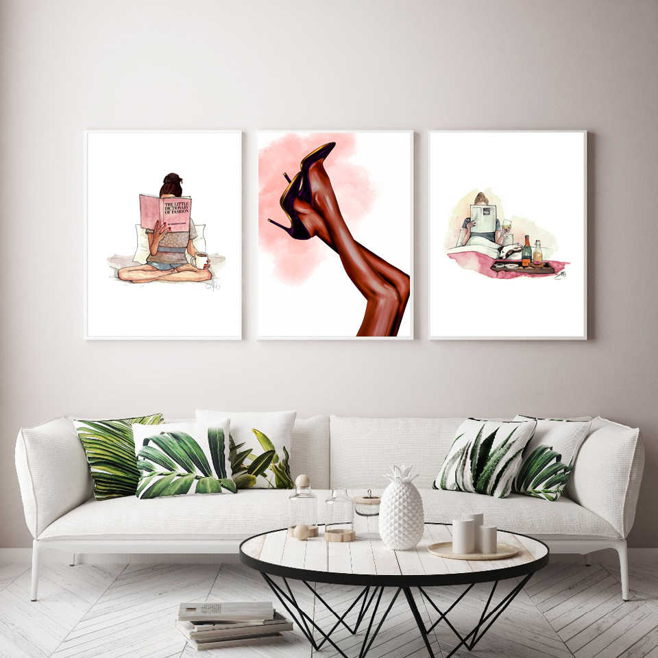 picture wall art home decor print Books are the quietest friends poster