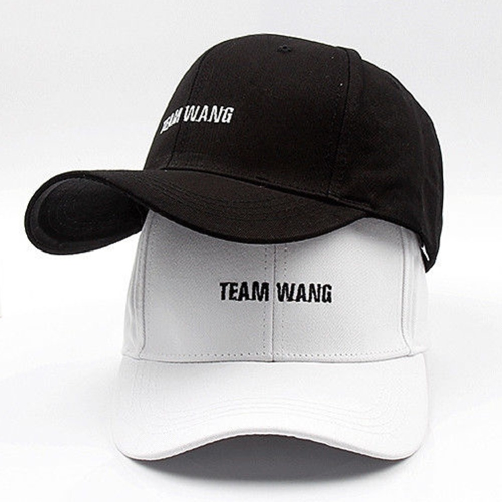 2019 New Team WANG Letters Embroidery Dad Hat For Women Men Baseball Caps Unisex Casual Sports Adjustable Hats Golf Caps