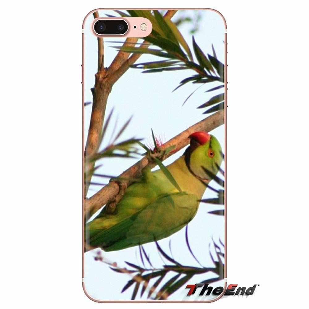 透明 TPU ケースは小をカバーグリーンオウム鳥ポスター Ipod Touch の apple の iphone 4 4S 5 5S SE 5C 6 6S 7 8 × XR XS プラス最大