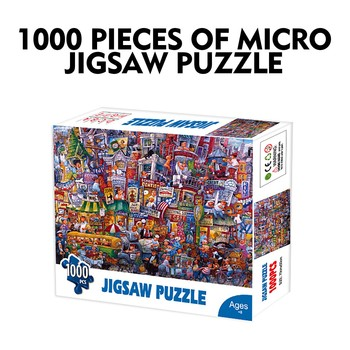 1000 Pieces Jigsaw Puzzle Children's Adult Wooden Puzzle Intelligence Educational Game Toys kids Jigsaw Puzzle toys Stickers 1