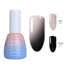 BORN PRETTY 6ML/10ML Thermal Nail Gel Polish 3 in 1 Temperature Color Changing Art Soak Off UV Varnish Long Lasting