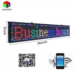 Pantalla led de 7 colores para interiores P10, señal LED programable, USB y WiFi