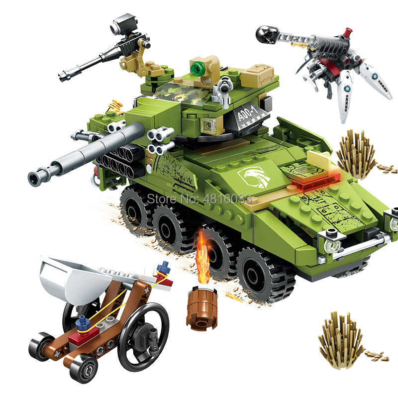 compatible legoingly Military Pubg war series Special forces tank vehicles are struggling Building Block Bricks Kids Toy