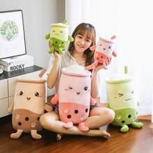 Jouet en peluche en forme de tasse de thé à bulles 22/50cm, poupée douce de bébé en peluche de thé au lait de dessin animé, cadeau Kawaii
