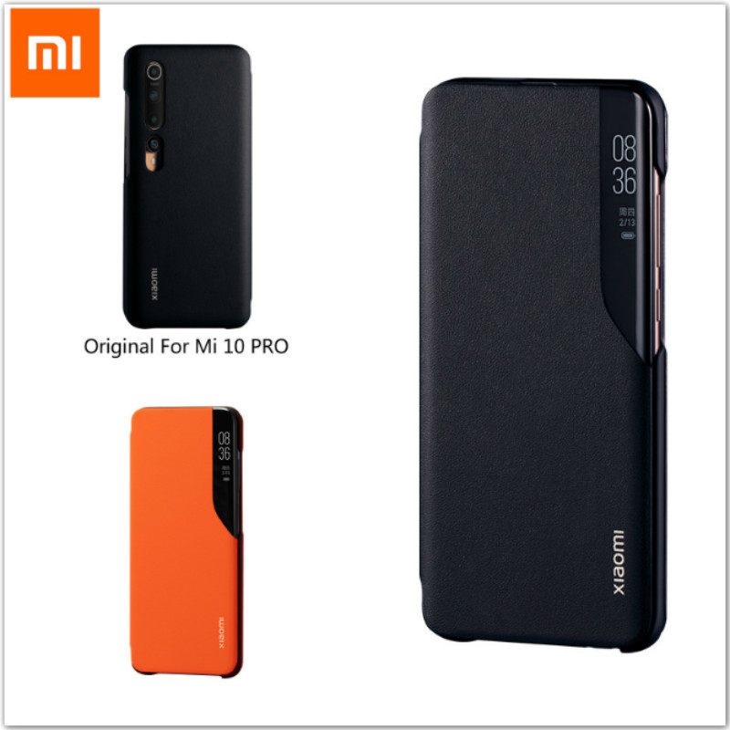 Original Xiaomi Mi 10 Pro Flip Phone Cases 360° Casing Fitted Smartphone Protective Shell 20Million Front Camera Covering 6.67''