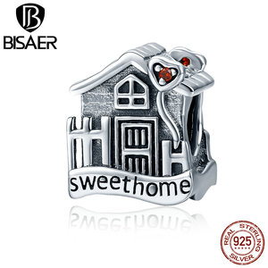 2019 Silver 925 Sterling Silver Sweet Home Cute House Loft Villa Charms fit PAN Charm Bracelets Original Jewelry GXC416