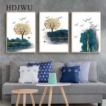 New Chinese Home Canvas Wall Painting  Art Mountain Landscape Decoration Printing Posters Pictures for Living Room DJ514