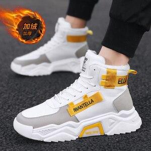 Image 4 - Özel tasarım kış ayakkabı erkekler ayakkabı üzerinde kayma erkekler için yüksek kaliteli erkek ayakkabı su geçirmez sıcak tutmak rahat ayakkabılar erkekler