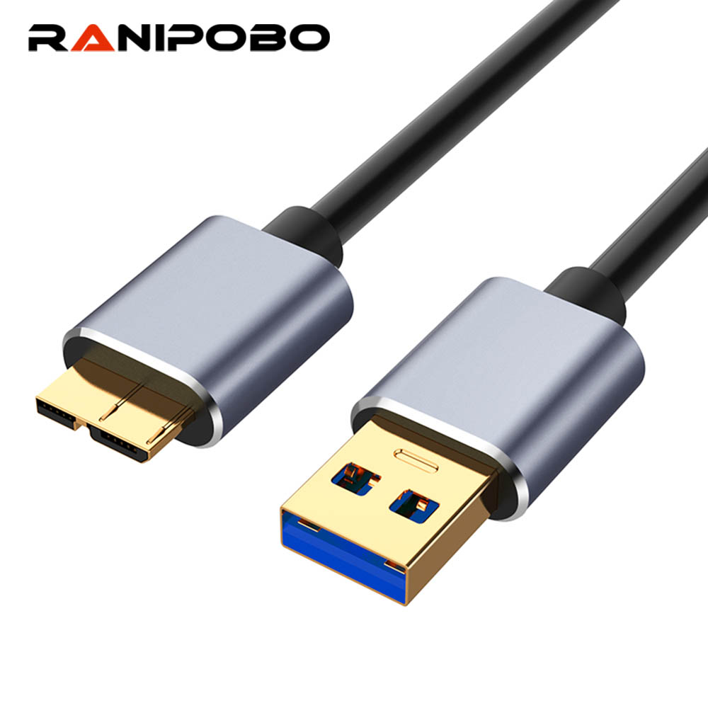 <font><b>USB</b></font> <font><b>3.0</b></font> Cable Fast Speed <font><b>USB</b></font> Type A Micro <font><b>B</b></font> Data Sync Cable Code For External Hard Drive Disk HDD For Samsung S5 Note 3 image