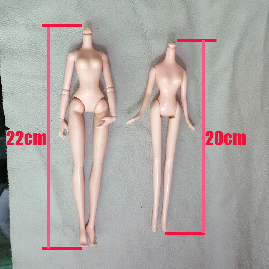 1PCS Nude Girl Body OOAK Doll Factory Doll Body 22cm 20cm  Children Toys Fitting Not Head.