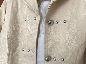 Image 5 - ヴィンテージスチームパンクゴシックスタイルの綿のジャケットリベットタキシードコート女性のための生地スリムアリコートトップ女性黒