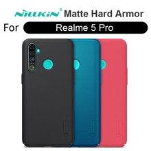 Жесткий Чехол для Realme 5 Pro оригинальный матовый чехол NILLKIN