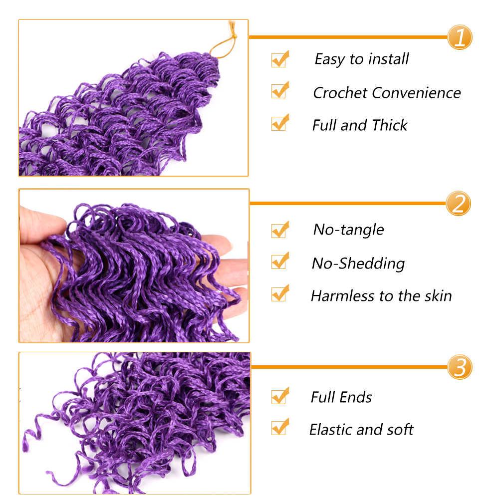 "Mtmei שיער זיזי צמות שיער 28 ""48 גדילים תיבת צמות שיער סרוג אפור סגול ורוד בלונד ירוק מתולתל קולעת שיער הרחבות"
