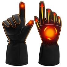 Зимние грелки для рук, электрические тепловые перчатки, перезаряжаемые батареи, перчатки с подогревом, перчатки для велоспорта, мотоцикла, велосипеда, лыжные перчатки унисекс