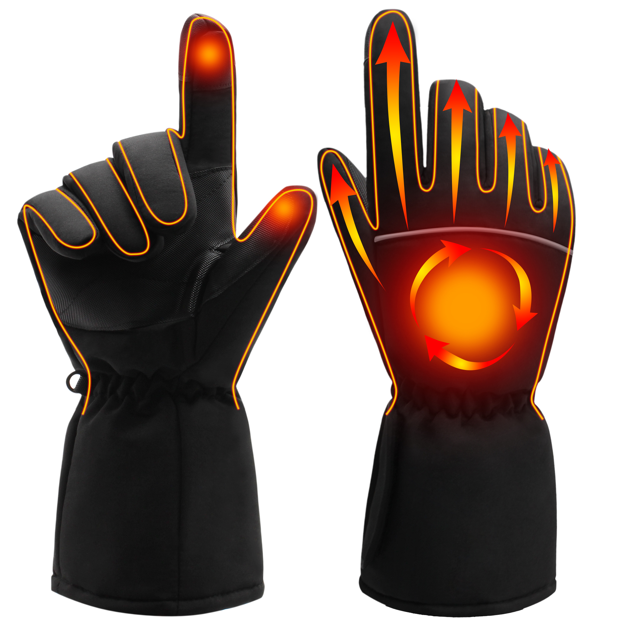 Winter Hand Warmer Electric Thermal Gloves Rechargeable Battery Heated Gloves Cycling Motorcycle Bicycle Ski Gloves Unisex