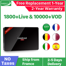 Arabic IPTV Years France Dutch Belgium Leadcool Pro Android 8.1 RK3229 4K H.265 QHDTV Subscription 1 Year Code  Box