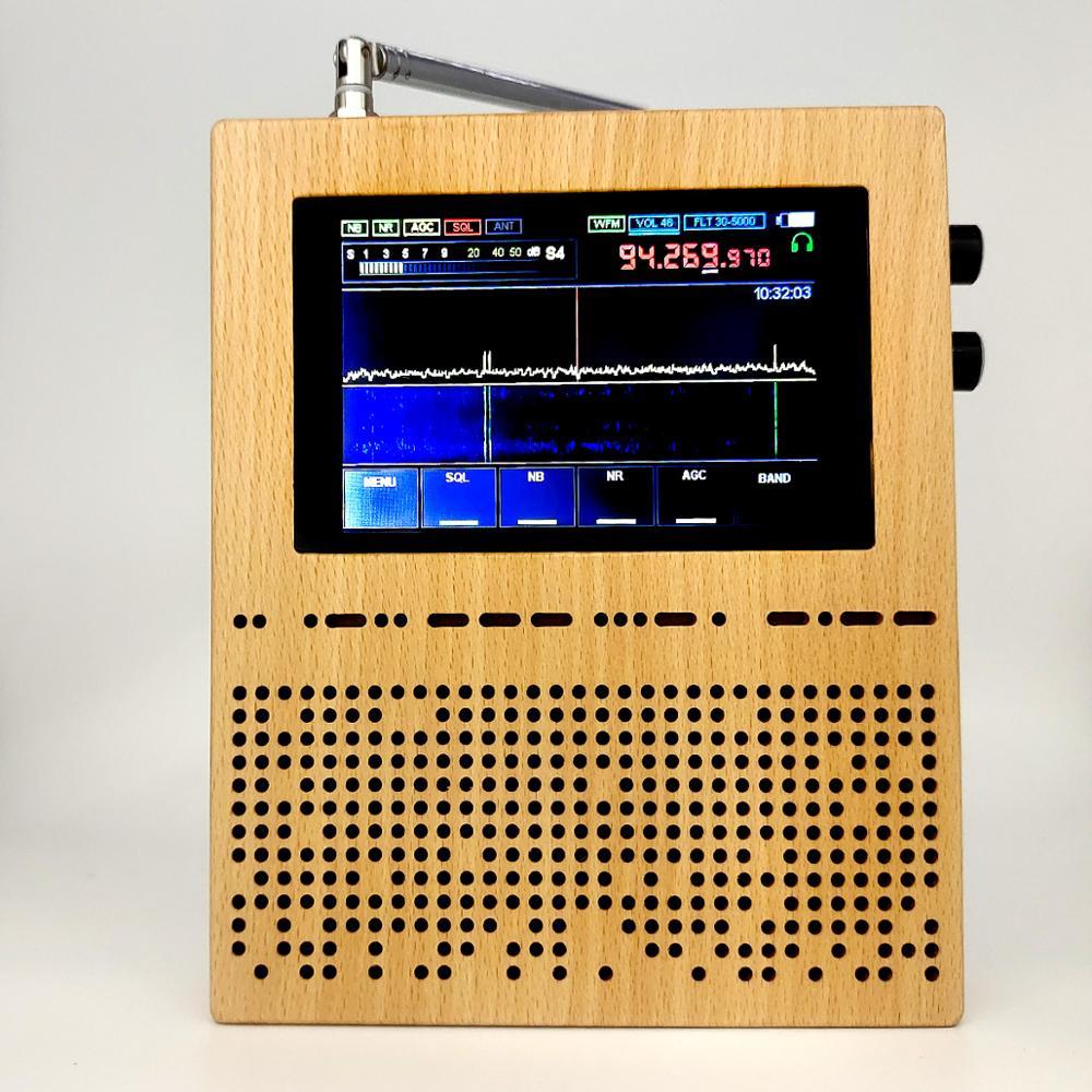 3,5 дюймовый ЖК-экран цифровой приемник сигнала SDR радио Малахитовый Малахит DSP SDR приемник деревянный корпус тяжелый бас колонки DIY инструмен...