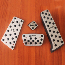Stainless Steel Brake Foot Rest Refit Pedal For Toyota Crown 2011-2019 Fuel Brak