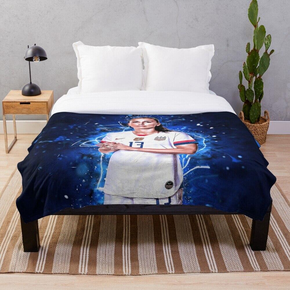 Alex Morgan USA Throw Blanket Soft Sherpa Blanket Bed Sheet Single Knee Blanket Office Nap Blanket