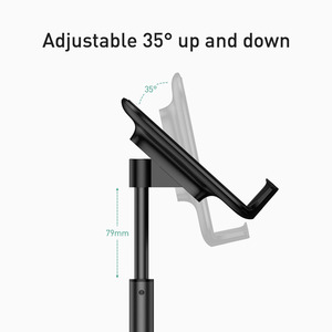 Image 4 - Baseus Universal Mobile Phone Holder For iPhone 11 Pro Max XS  Telescopic Desktop Bracket For Samsung Huawei Adjustable Stand