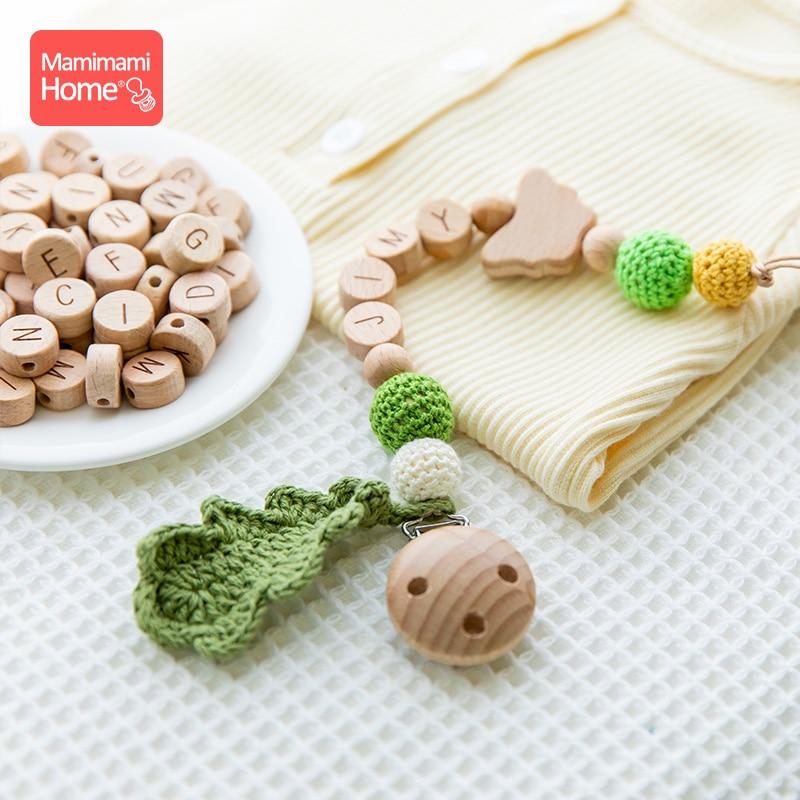 Cadena de chupete para bebé, pinza de madera de haya personalizada para chupete, chupete para bebé, accesorios de regalo para Recién Nacido 1 unidad Mono sin mangas para niño recién nacido, sin mangas, con motivos florales, ropa para niña bebé