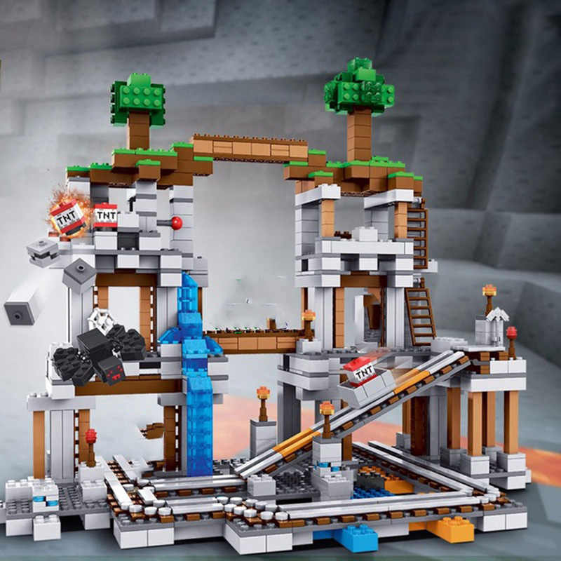 Legoing My World The Mine Set 922Pcs Building Blocks Toys Compatible Legoings My World Figures DIY Toy For Children