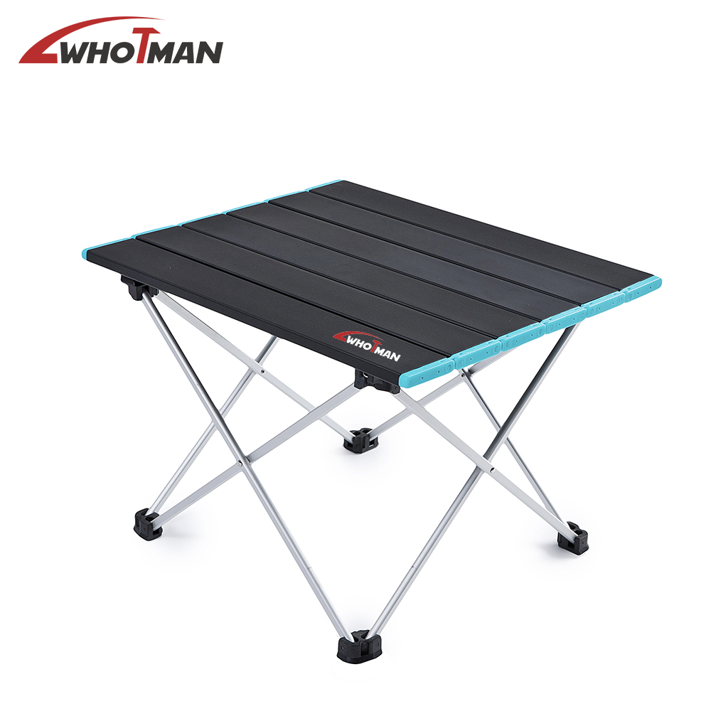 Aluminum Folding Camping Table Lightweight Portable Camp Table Collapsible Foldable Picnic Table In A Bag Outdoor Camping Furnit