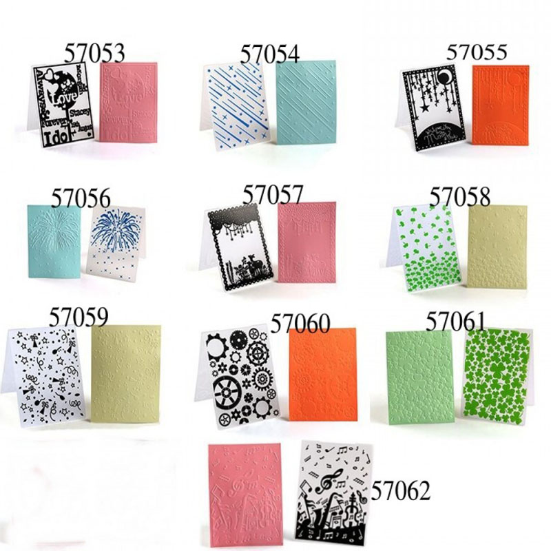 For Scrapbooking Craft Card Making Photo Album Wedding Decor Paper Cards Embossing Folder Plastic Template 1 Pcs