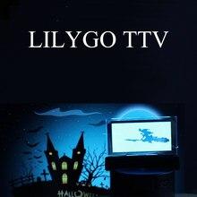 Lilygo ttv tela transparente oled controle remoto infravermelho programável mini tv esp32 para programação arduino micropython