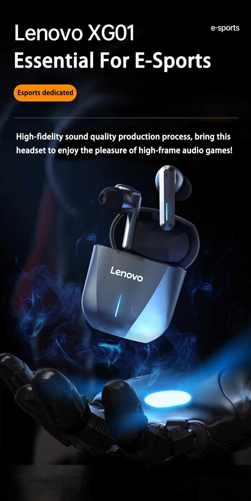 Lenovo XG01 Gaming TWS Earbuds-7