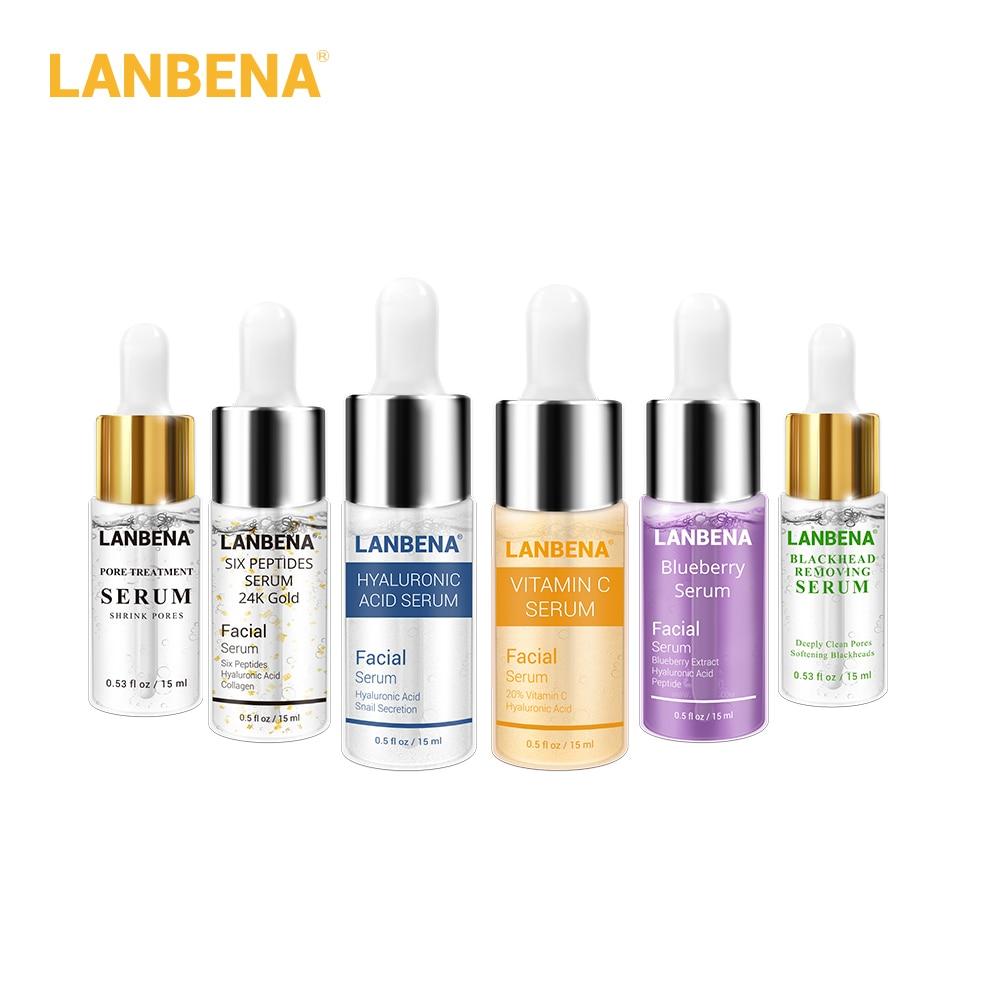 LANBENA Face Serum Acne Treatment Blackhead Remover Anti Wrinkle Aging Firming Shrink Pore Whiten Moist Facial Essence Skin Care