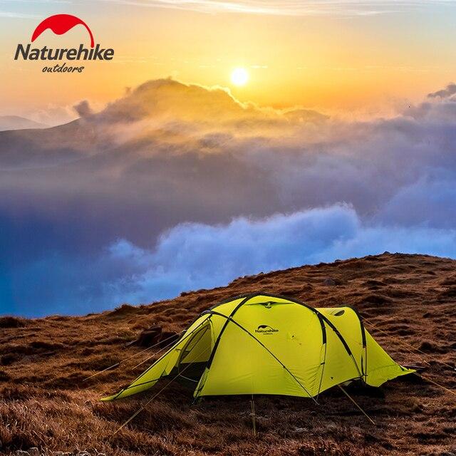 Naturehike 2019 70D קרח אוהל 2 אדם שלג קמפינג אוהל אנטי סטרס מעובה רוח וקר עמיד אוהל מחוספס מהיר בניין
