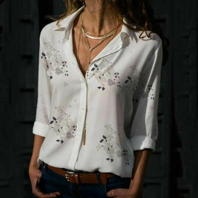 Plus size Autumn hot sale Temperament commute Women's Long Sleeve Casual Loose Tops Ladies Plain Button Blouse Shirts 2