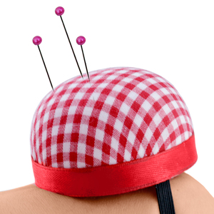 1pcs Ball Shaped Sewing Needle Pin Cushion DIY Cross Stitch Tool Pincushions With Elastic Wrist Belt Sewing Accessories(China)
