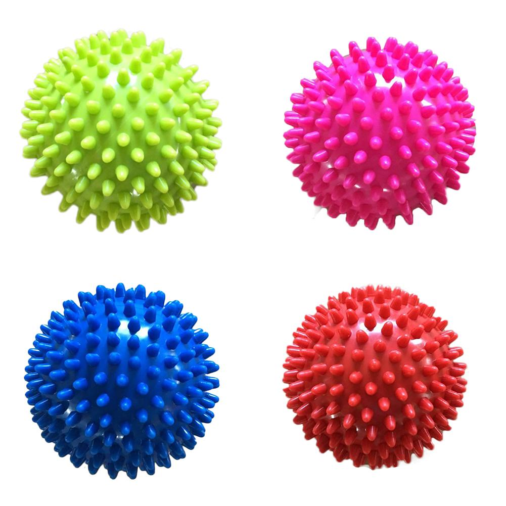 7CM 4 Color PVC Hand Massage Ball Portable PVC Soles Hedgehog Sensory Training Grip The Ball For Kids And Adult