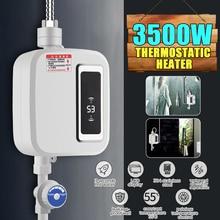 3500 Вт водонагреватель для ванной кухни мгновенный Электрический нагреватель горячей воды кран температуры ЖК-дисплей кран для душа Tankless