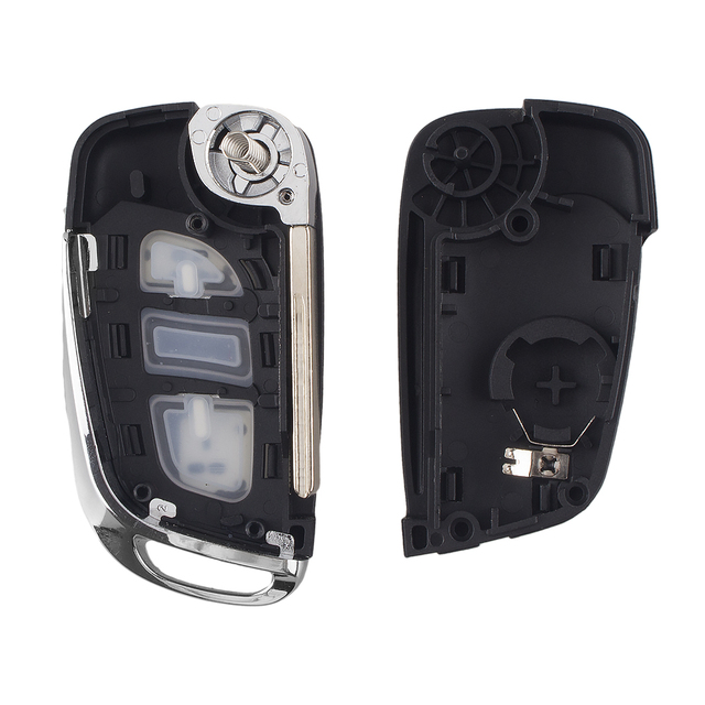 KEYYOU-coque de clé de voiture pliable | Filp modifié, pour Peugeot 207 307 407 408, pour Citroen C4 C2 HU83/VA2 lame CE0536