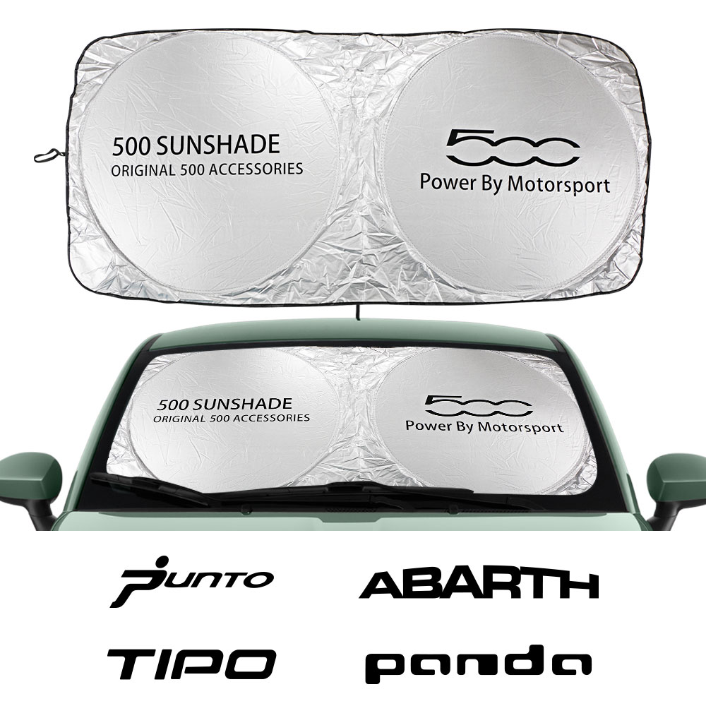 Car Windshield Sun Shade Cover For Fiat 124SPIDER 500 ABARTH Albea ARGO Bravo CRONOS DOBLO DUCATO FREEMONT Idea Accessories