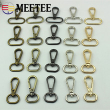 Meetee 5pc 16/20/25/32/38/50mm Metal Carbiner Buckles Bag Handbag Strap Clip Hook Collar KeyChain DIY Hardware Craft Accessories