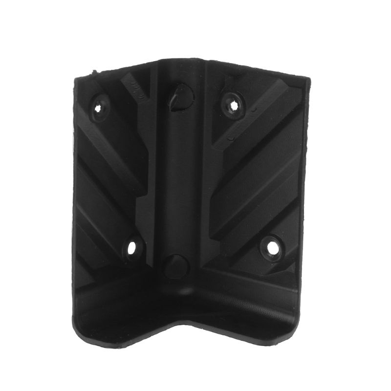 4PCS Speaker Corner Protectors Plastic Right Angle Rounded Protector Amplifier Stage Cabinets Accessories Replacement Black