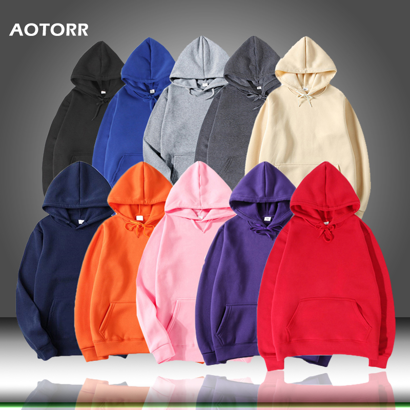 Men's Hoodies Sweatshirts Outwear Pocket Autumn Men Casual Solid Tops Male New