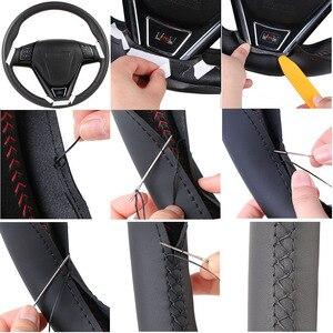 Image 5 - الجلود الاصطناعية عجلة توجيه سيارة جديلة لكيا K5 2011 2012 2013 كيا أوبتيما/مخصص غطاء التوجيه